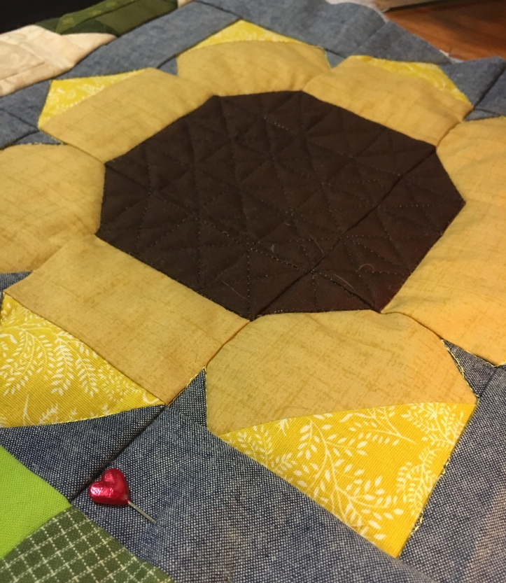 AMB BOM agriculture sunflower quilting