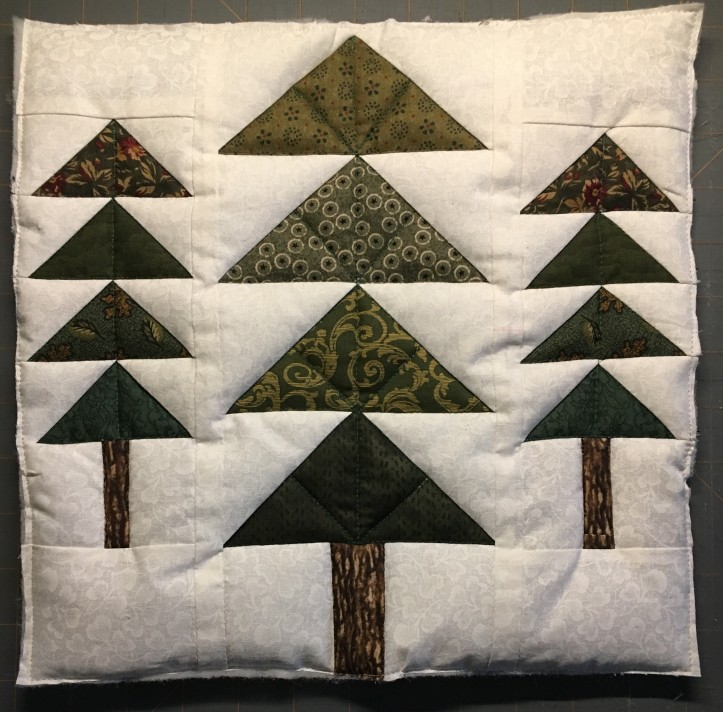 AMB BOM trees quilting finished