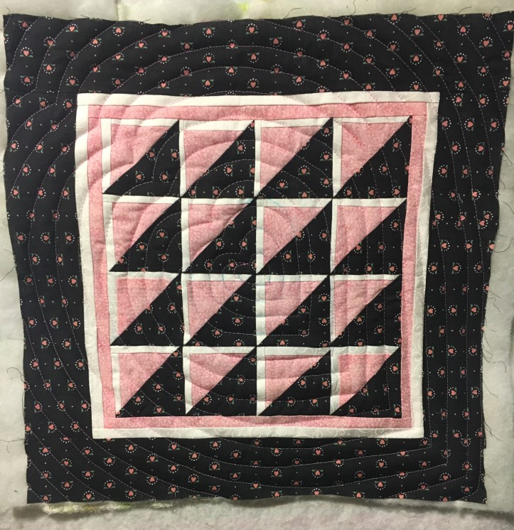 Concentric heart - quilted