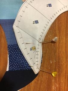Dahlia step 11 pinning