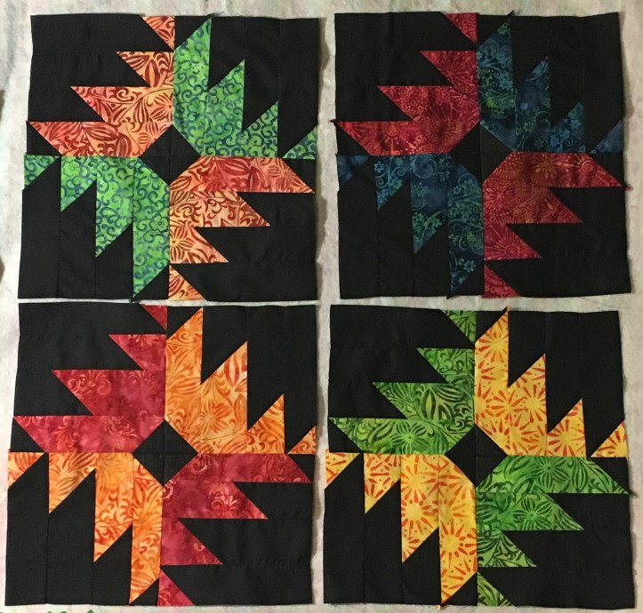 Delectable Flowers completed blocks