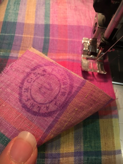 Drawstring Bag sewing 1