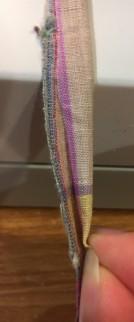 Drawstring Bag string step 3