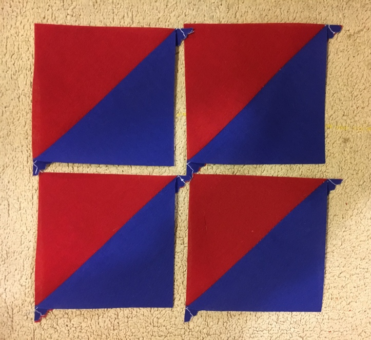 Half Square Triangles 4 - finished