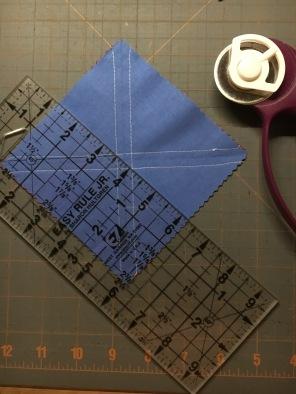 Half Square Triangles 8 - cut a