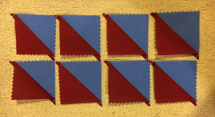 Half Square Triangles 8 - finished