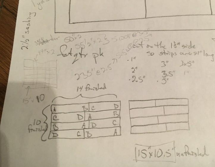 PB&J Quilt - modifications on paper