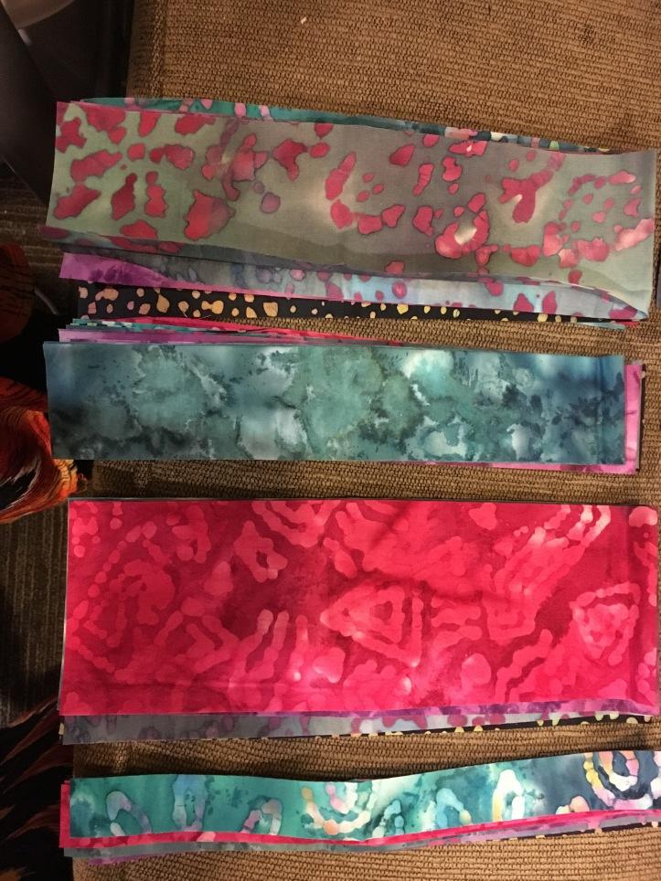 PB&J Quilt strips to sew