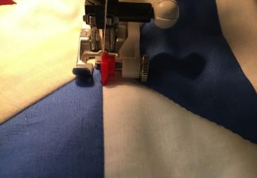 stitch in the ditch step 1