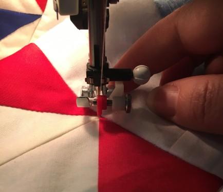 stitch in the ditch step 5