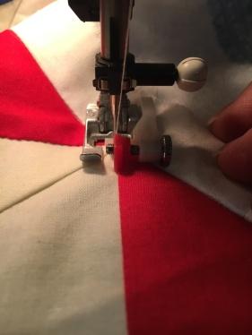 stitch in the ditch step 6