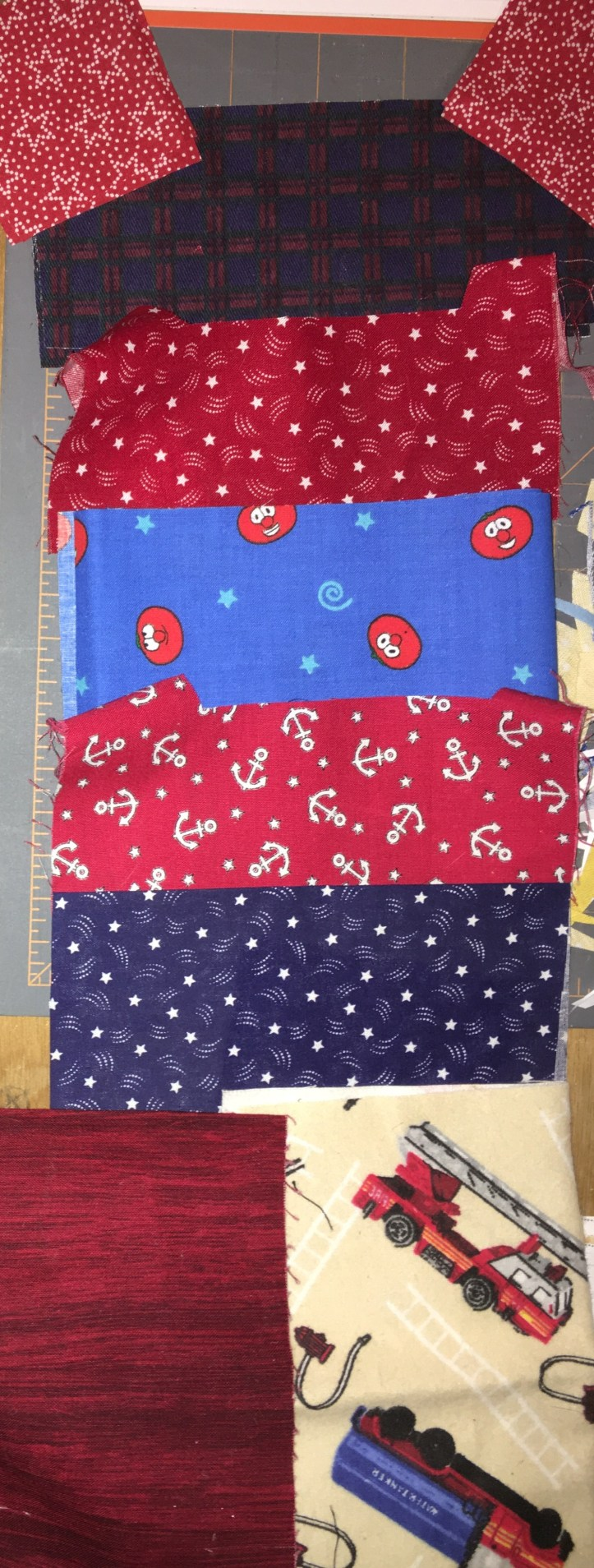 Zoo Train block - fabric choice