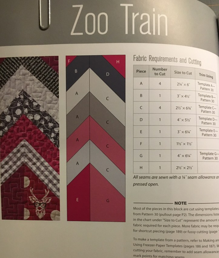 Zoo Train block - pattern