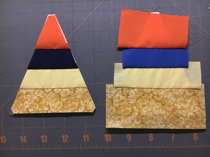 how to paper piece - before and after final trim