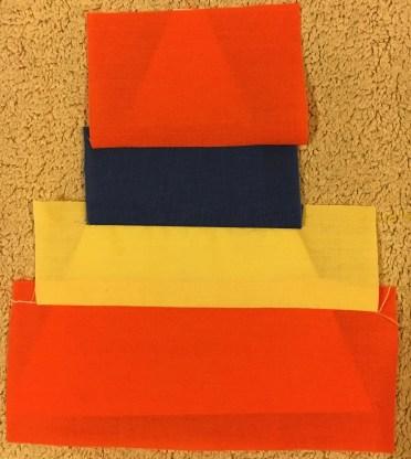 how to paper piece - press seam 4