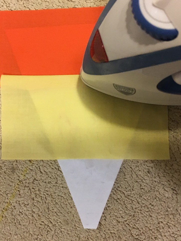 how to paper piece - press the seam