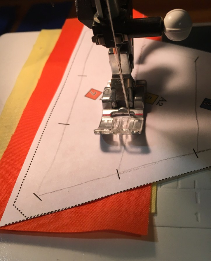 how to paper piece - sew on the line