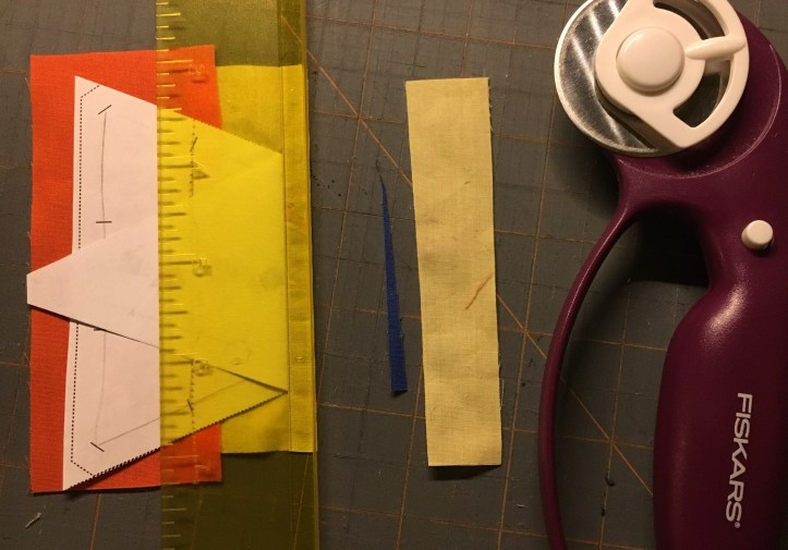 how to paper piece - trim excess 3
