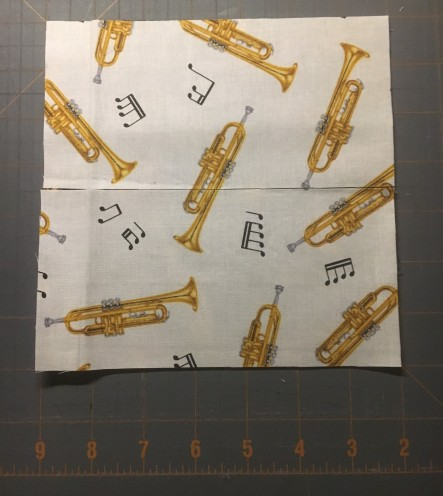 Music Mug Rug - cutting 1
