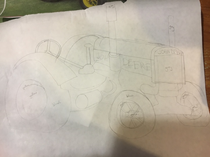Roger's tractor - pattern