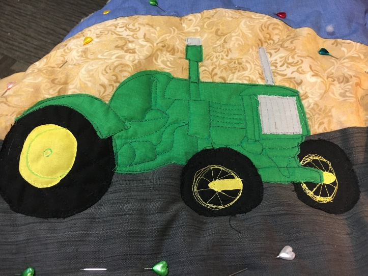Roger's tractor - tires quilted