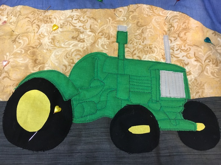 Roger's tractor - tractor quilted