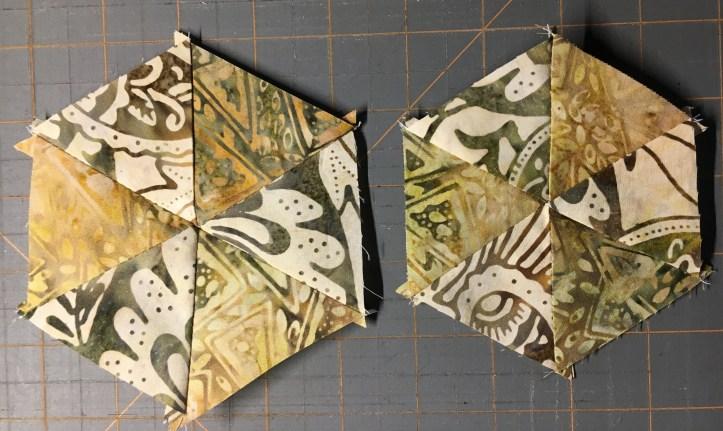 Turtle Row by Row - triangle hexy 7