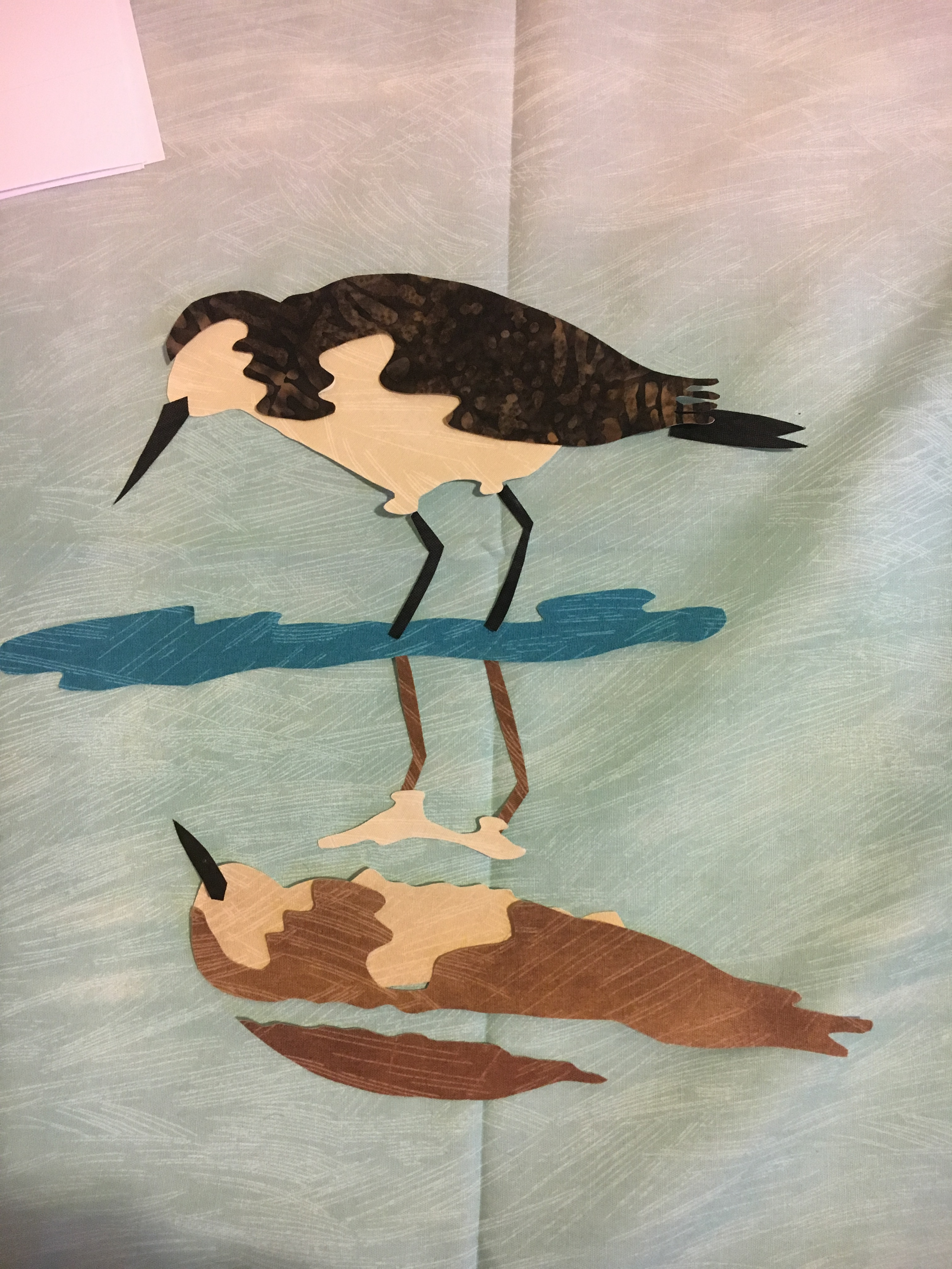 falling tides row - large bird with reflection.JPG